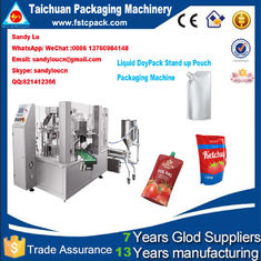 Good Quality Packing Machine Catalogue & Doypack stand up pouch filling , sealing , packging machine for liquid , oil on sale