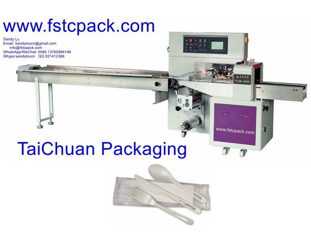 automatic spoons packing machine , plastic spoons , wooden ,spoon packaging machinery