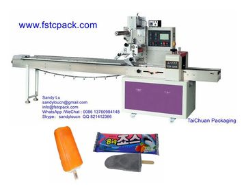 Popsicle packaging machine, Popsicle wrapping machinery, Popsicle flow pack